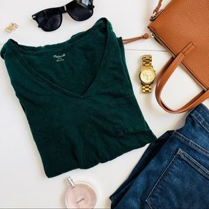 Dark Green Madewell T-shirt